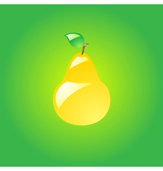 Glossy pear vector image vector image