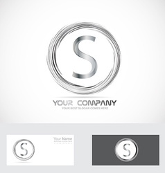 Letter S logo silver vector image vector image