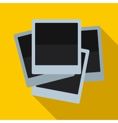 Photos icon in flat style vector image vector image