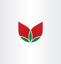 roses flower with leaves icon vector image
