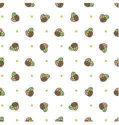 seamless pattern coffee candies vector image vector image