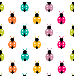seamless pattern with color ladybug vector image vector image