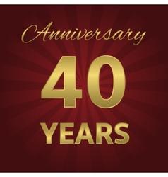40 years anniversary vector image vector image