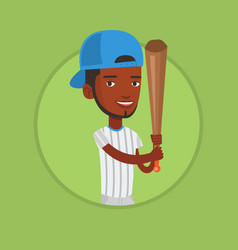 baseball player with bat vector image