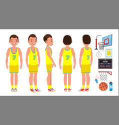 basketball player male different position vector image