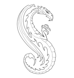 Decorative dragon vector