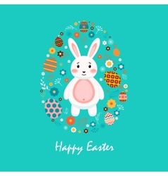 Happy easter 2 vector image