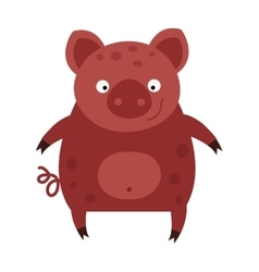 Happy smiling little baby cartoon pig animal farm vector image