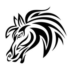 Horse face vector image