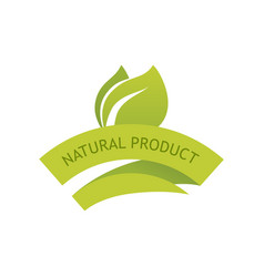 natural product sign vector image vector image