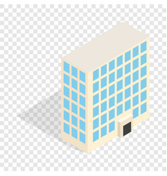 office building isometric icon vector image vector image