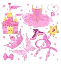 Princess Ballerina Set vector image vector image