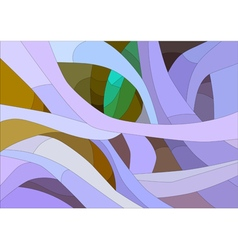 Stained glass with floral abstract pattern vector