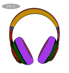 hand-drawn sketch of headphones 2 vector image