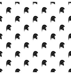 Knight helmet pattern simple style vector image