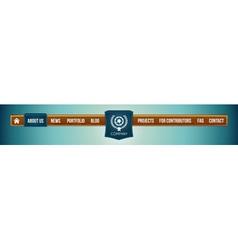 website menu bar vector image