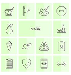 14 mark icons vector