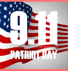 911 patriot day background american flag stripes vector
