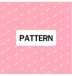 abstract wavy lines pattern pink background vector image