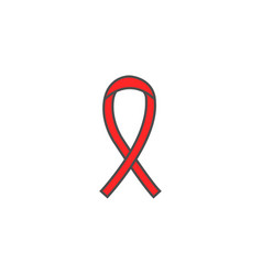 aids and hiv ribbon solid icon cancer ribbon vector image