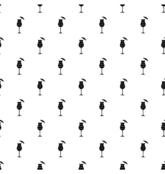 Alcoholic cocktail pattern simple style vector image
