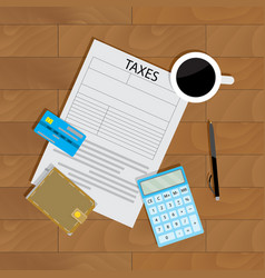 annual payment of taxes vector image