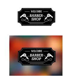 Barber Shop sign with hairdryers vector