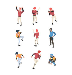 baseball isometric sport game team people in vector image