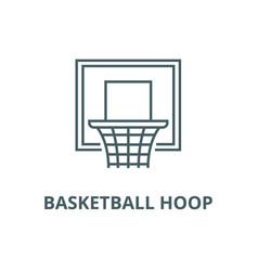 basketball hoop line icon basketball hoop vector image