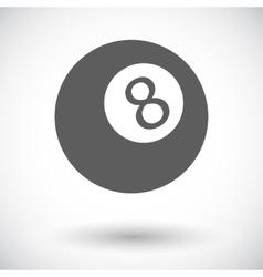 Billiard ball vector image