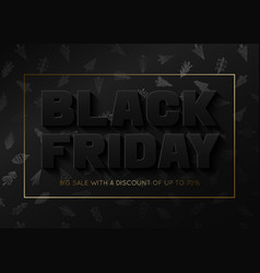 Black friday sale banner template with new years vector