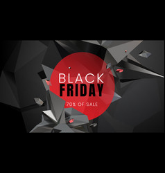 black friday sale dark background with polygonal vector image
