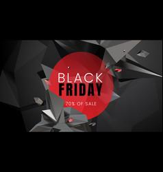 Black friday sale dark background with polygonal vector