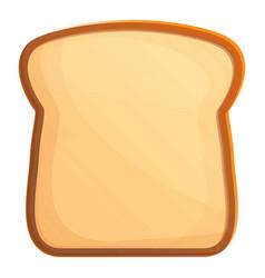 Bread toast icon cartoon style vector