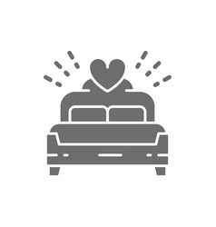 bridal bed king size grey icon isolated on white vector image