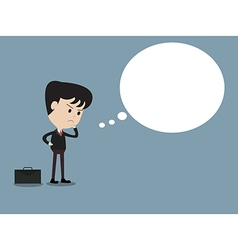 Business man with copy space in think bubble vector