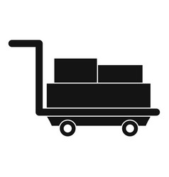 Cart with luggage icon simple style vector