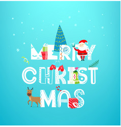 Christmas artistic greeting card concept banner vector