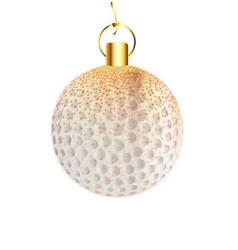 Christmas decoration golfball vector