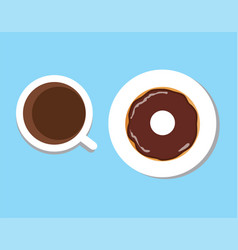Coffee donut vector