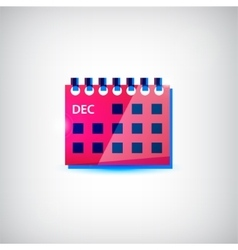 Colorful calendar flat icon vector