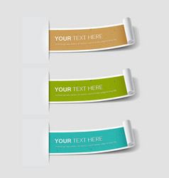 Colorful paper label roll classic retro vector