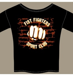 Cool Fight Club Shirt Template Design vector image