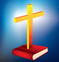 Cross and bible vector