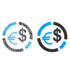 currency diagram composition of dollars vector image