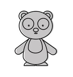 Cute and tender bear panda vector