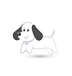 cute dog puppy cartoon vector image
