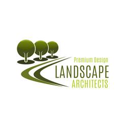 design landscape architects badge vector image