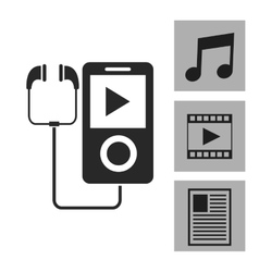 Device design Gadget icon White background vector image