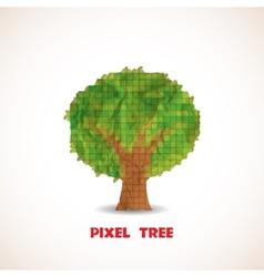 Doodle pixel tree vector image